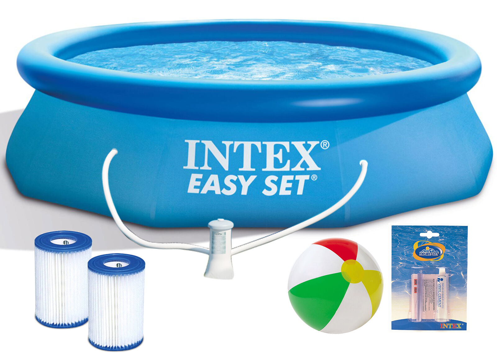 intex easy set swimming pool 366x76 cm schwimmbecken quick up schwimmbad 28132 eur 62 88. Black Bedroom Furniture Sets. Home Design Ideas