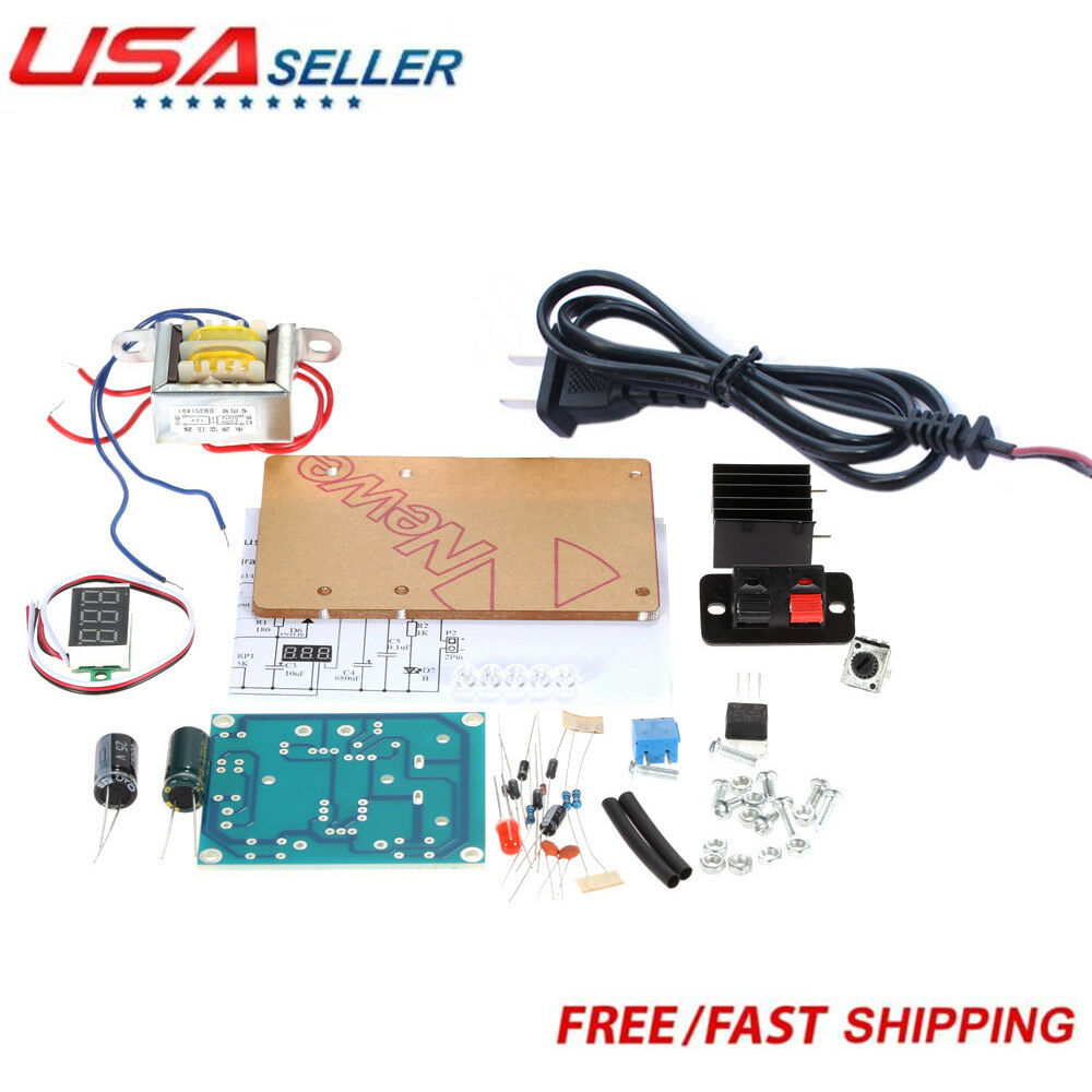 Continuously Adjustable Ac To Dc Regulated Power Supply Diy Kit 10a 1 30v Variable With Lm317 Of 9free Shipping
