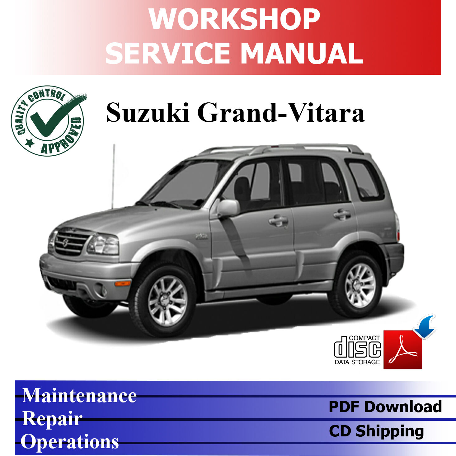 Suzuki Grand Vitara Sq Ja 98-'05 *complete* Workshop Service Manual 1 of  4FREE Shipping ...