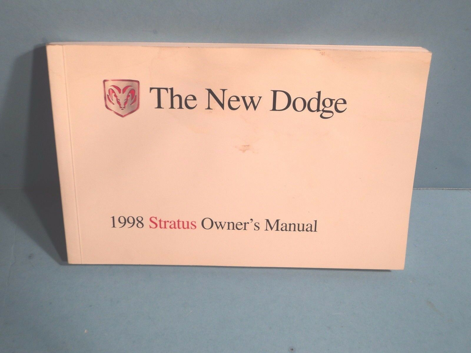 98 1998 Dodge Stratus owners manual 1 of 1FREE Shipping ...