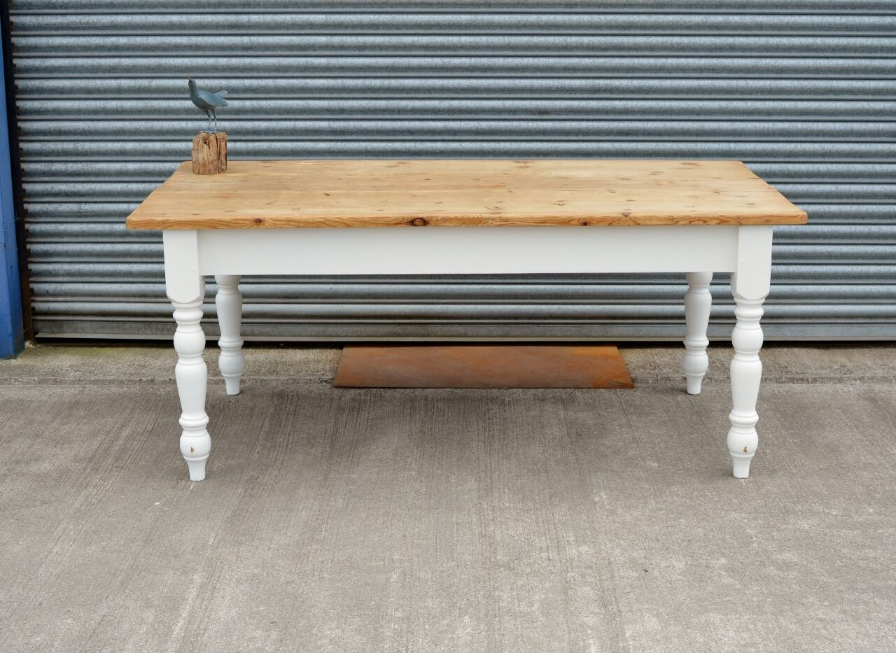 rustic solid pine dining table shabby chic farmhouse