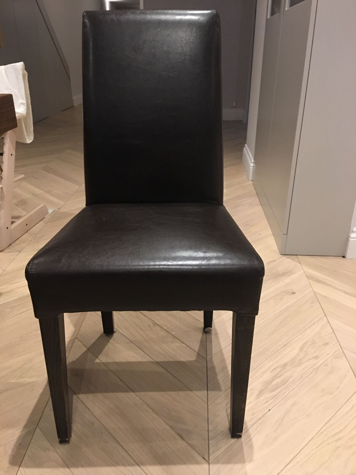 6 Leather Dining Table Chairs PicClick UK