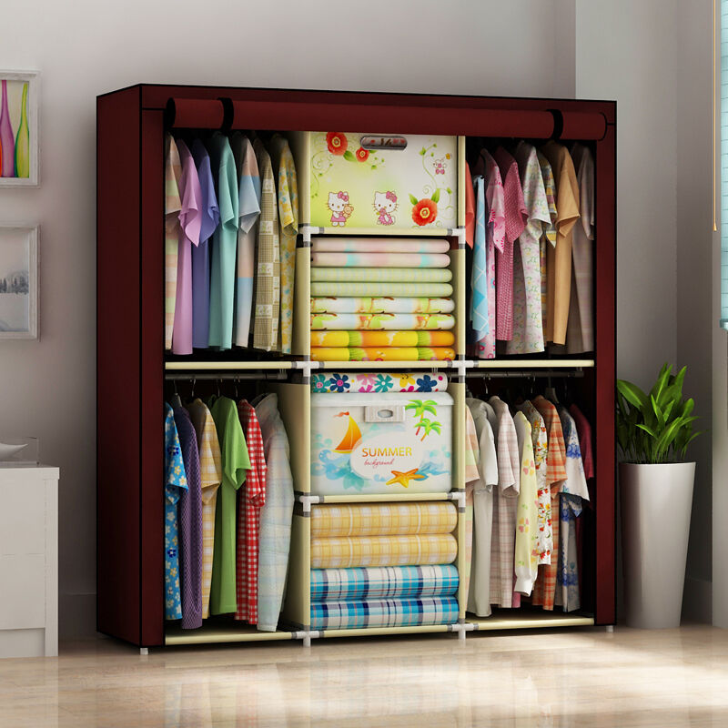 Home Space Saver Clothes Organizers Cabinet Wardrobe Closet Armoire MWT  Portable 1 Of 12FREE Shipping ...
