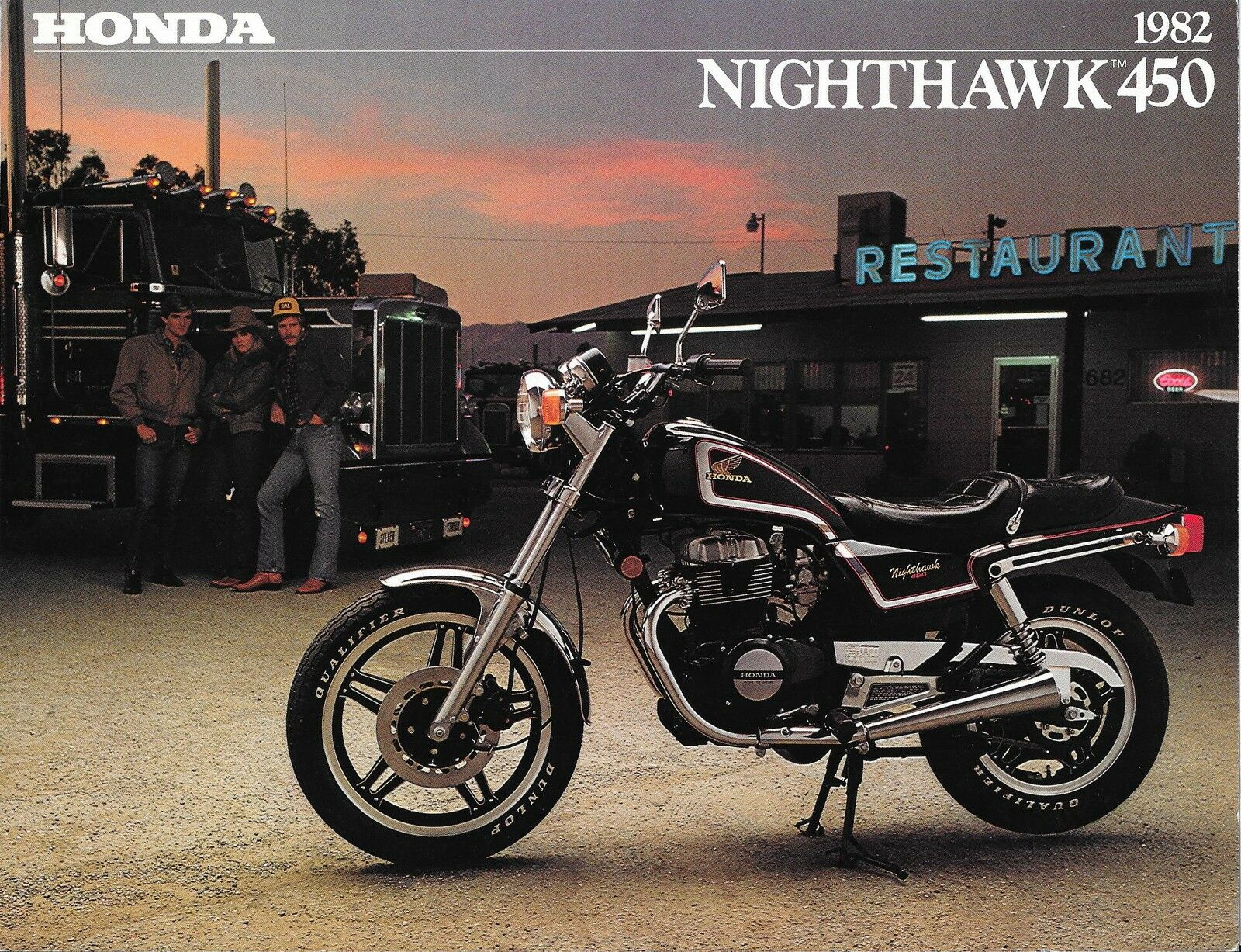 82 Honda Cb450 Cb450sc Nighthawk 4 Page Sales Brochure 999 1982 Cb450t Electrical Wiring Diagram 1 Of 1only Available See More