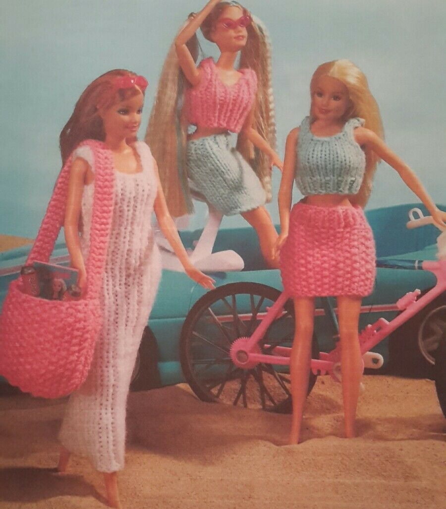 Knitting Pattern Sindy Barbie Teenage Doll 11 inches Beach ...