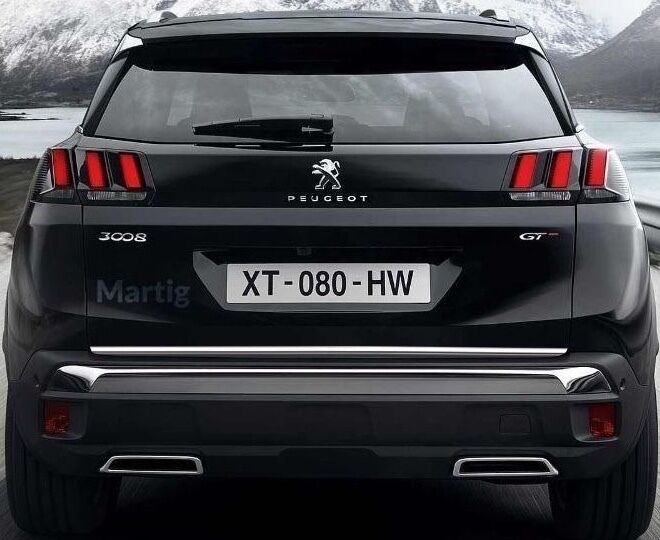 PEUGEOT 3008 II SUV 2016- CHROME Rear Trim Strip Trunk Tuning Tailgate Garnish - EUR 17,13 ...