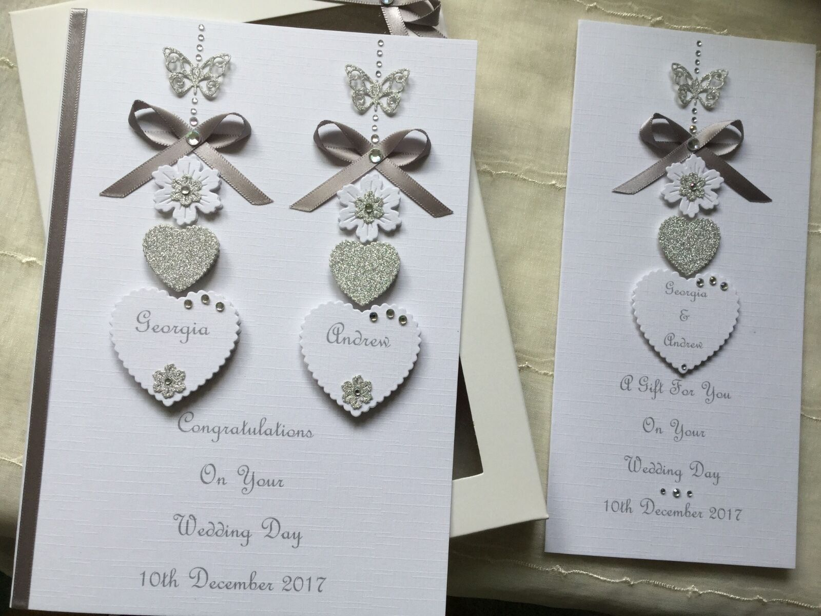 Personalised Boxed Wedding Card And Gift Voucher Wallet Engagement