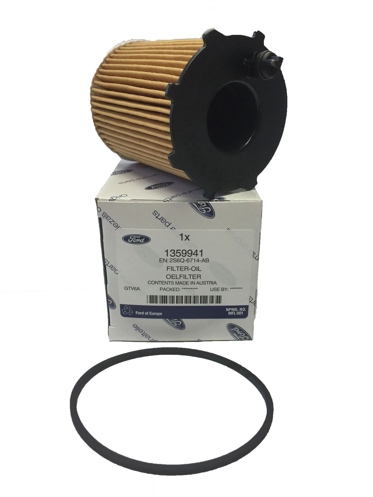 genuine ford c max 1 6 tdci 115 hp 2010 oil filter. Black Bedroom Furniture Sets. Home Design Ideas
