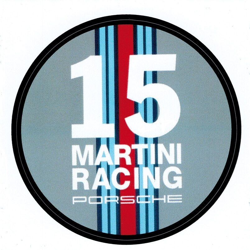 porsche 911 aufkleber porsche martini racing in rund. Black Bedroom Furniture Sets. Home Design Ideas
