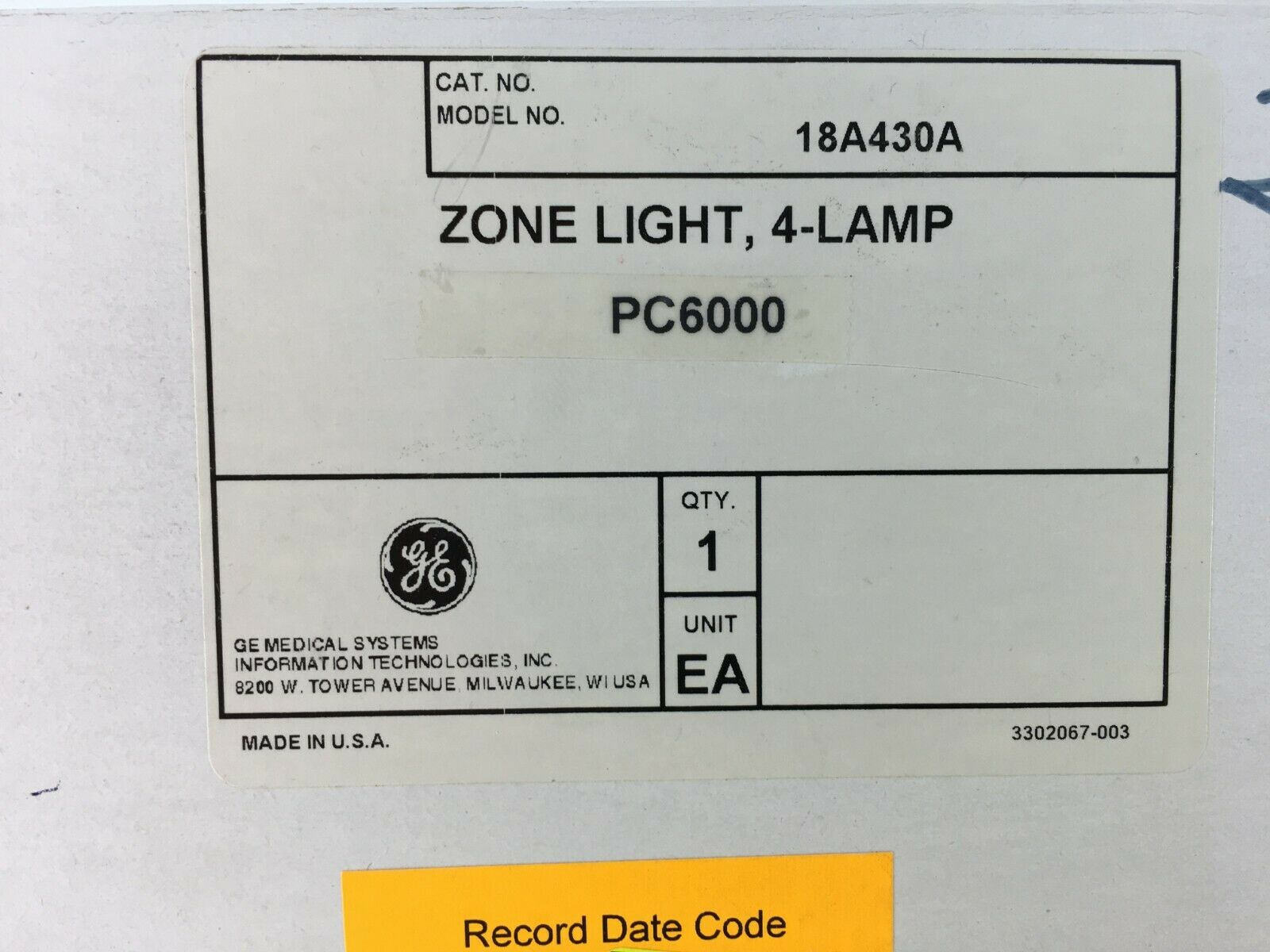 18A430A Zone Light 4 Lamp Door Light GE PC6000 NEW Ascom Dukane Nurse Call  1 of 1Only 1 available See More