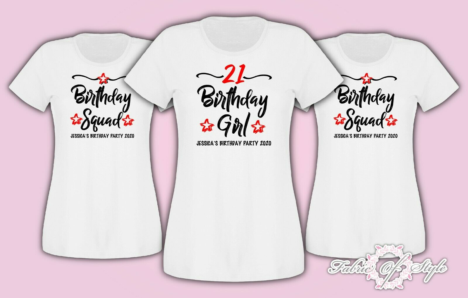 Personalised 18th 21st 30th 40th 50th Birthday Girl Squad T Shirt Ladies Female 1 Of 3FREE Shipping See More