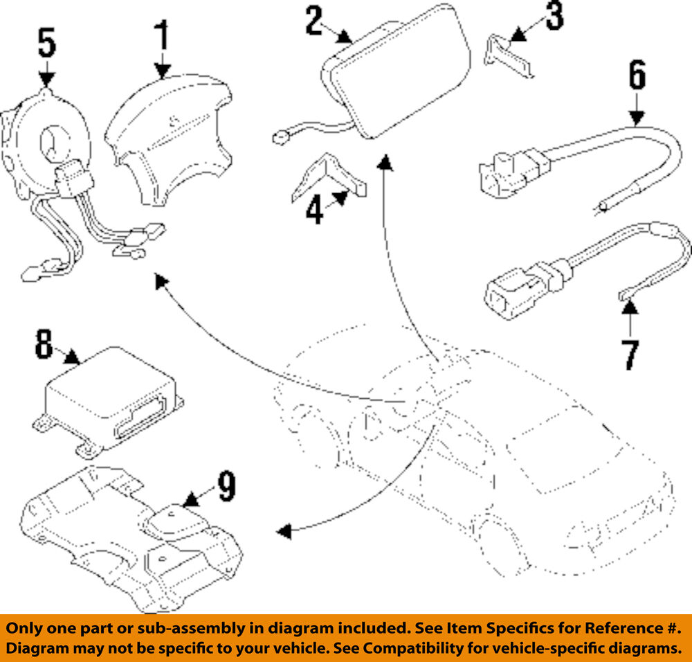 Mitsubishi Oem 91 99 3000gt Air Bag Airbag Wiring Harness Mb686560 Eclipse 1 Of 1only Available