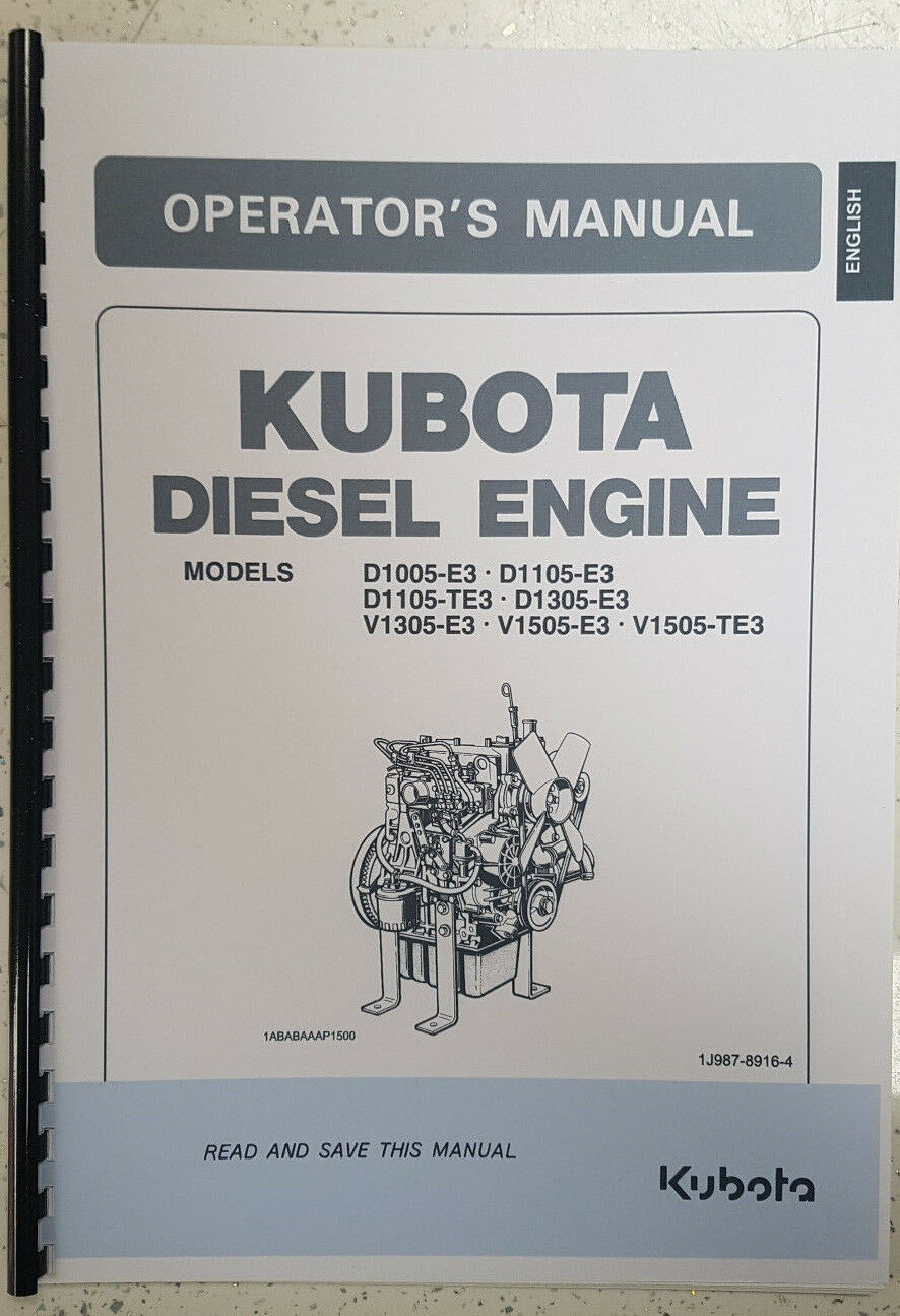 Kubota D1105 Service Manual Free Auto Electrical Wiring Diagram D1005 D1305 V1305 V1505 Engine Operator