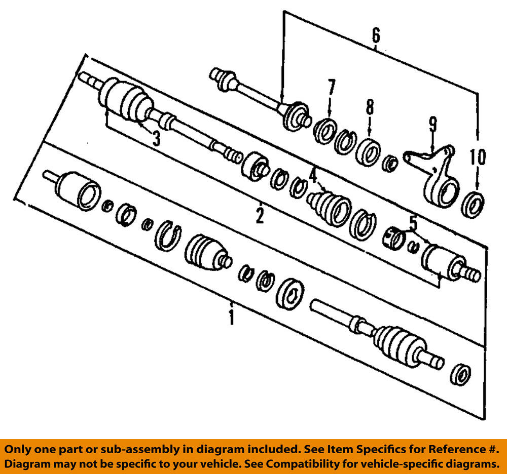 Honda Oem Front Inner Cv Joint 44310sm4310 38223 Picclick Ca Diagram 1 Of 1only 2 Available