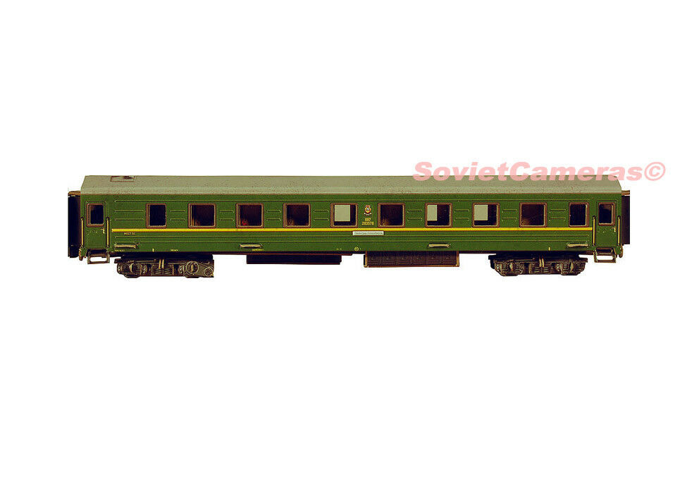 1 87 ho scale russian sleeping passenger car railway cardboard model kit new picclick ca. Black Bedroom Furniture Sets. Home Design Ideas