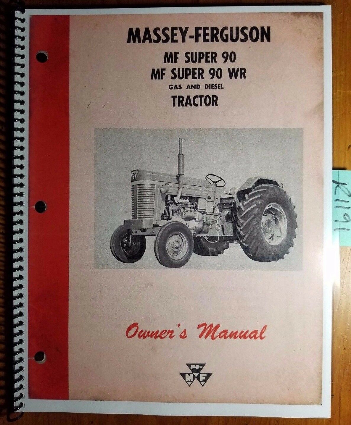Massey Ferguson Super 90 Super 90 WR Gas & Diesel Tractor Owner Operator  Manual 1 of 12FREE Shipping See More