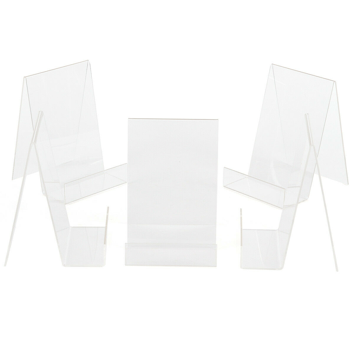 50pcs clear acrylic desktop business card sign display holder price 50pcs clear acrylic desktop business card sign display holder price label stand 1 of 1free shipping reheart Image collections