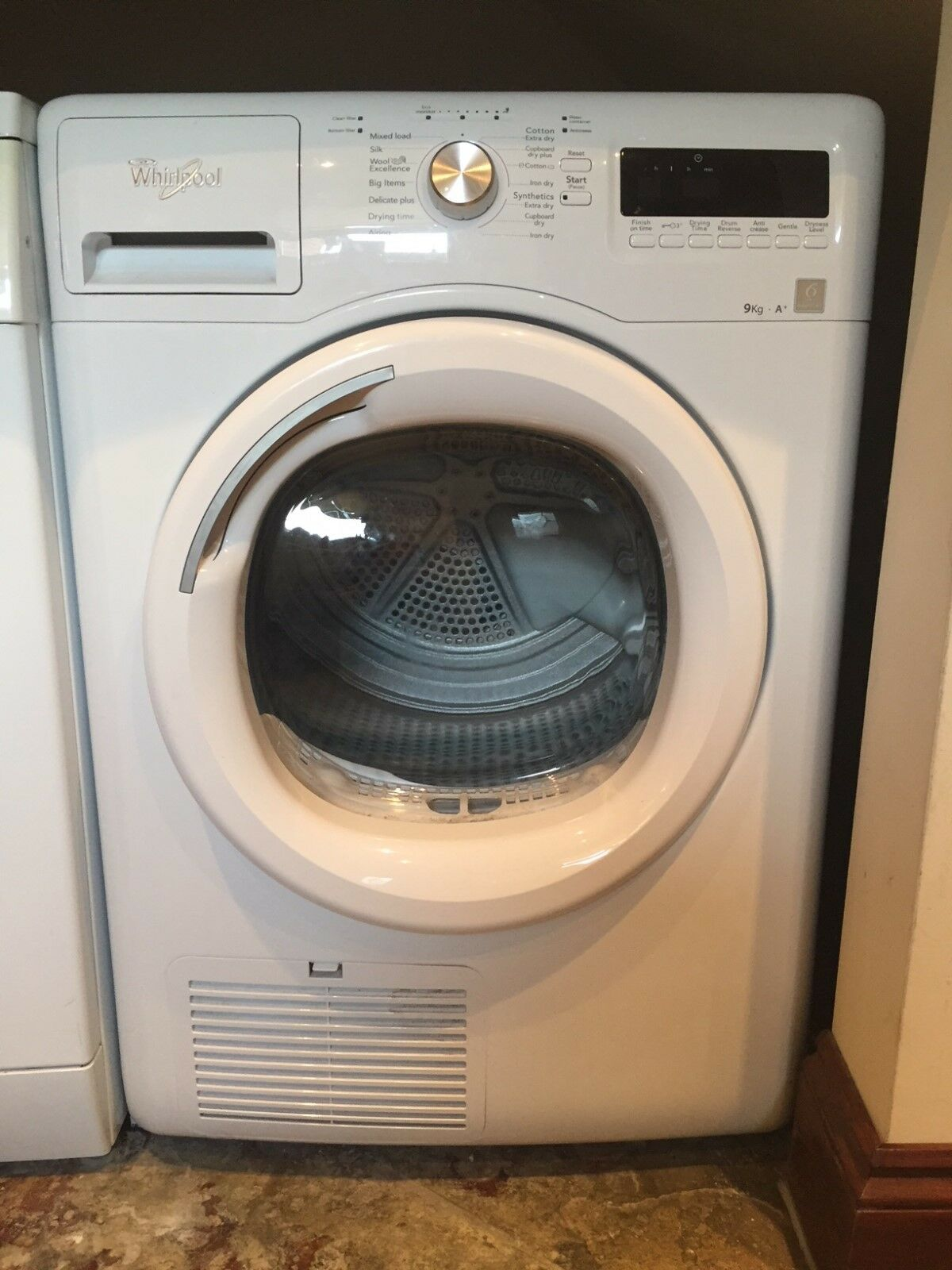 Whirlpool tumble dryer in white 8kg drum 6th sense technology condenser picclick uk - Tumble dryer for small space pict ...