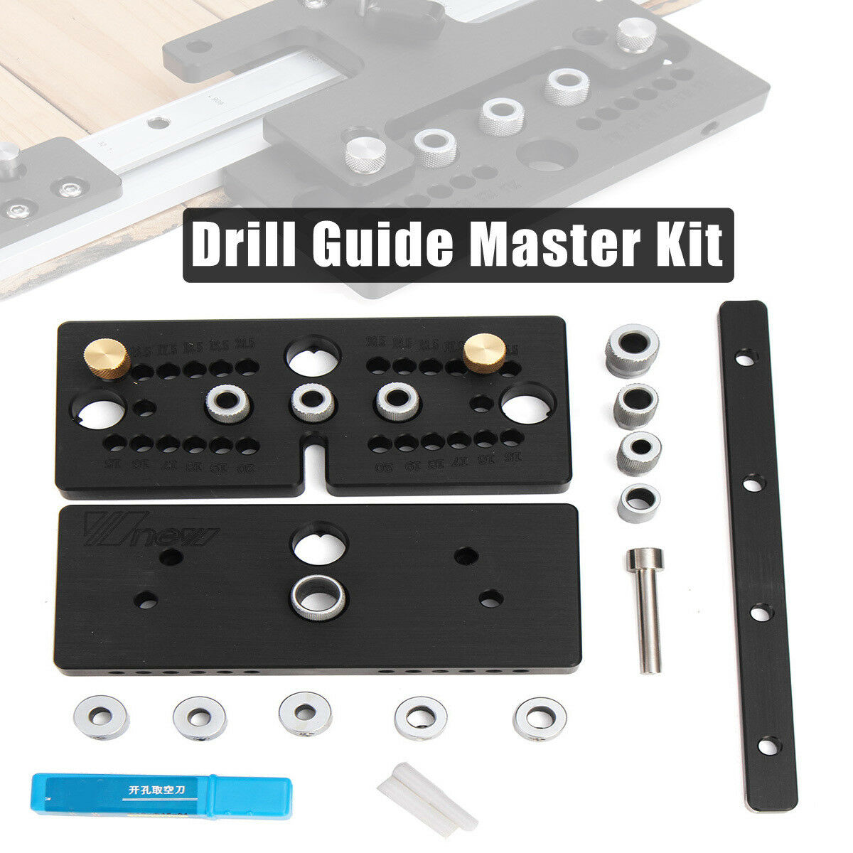 WOOD HOLE PLUS Doweling Jig Joint Drill Guide Master Kit Locator ...