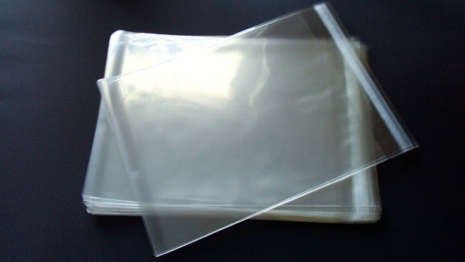100 5 12x8 18 Clear Lip Tape Seal Cello Bags Sleeves 5x8