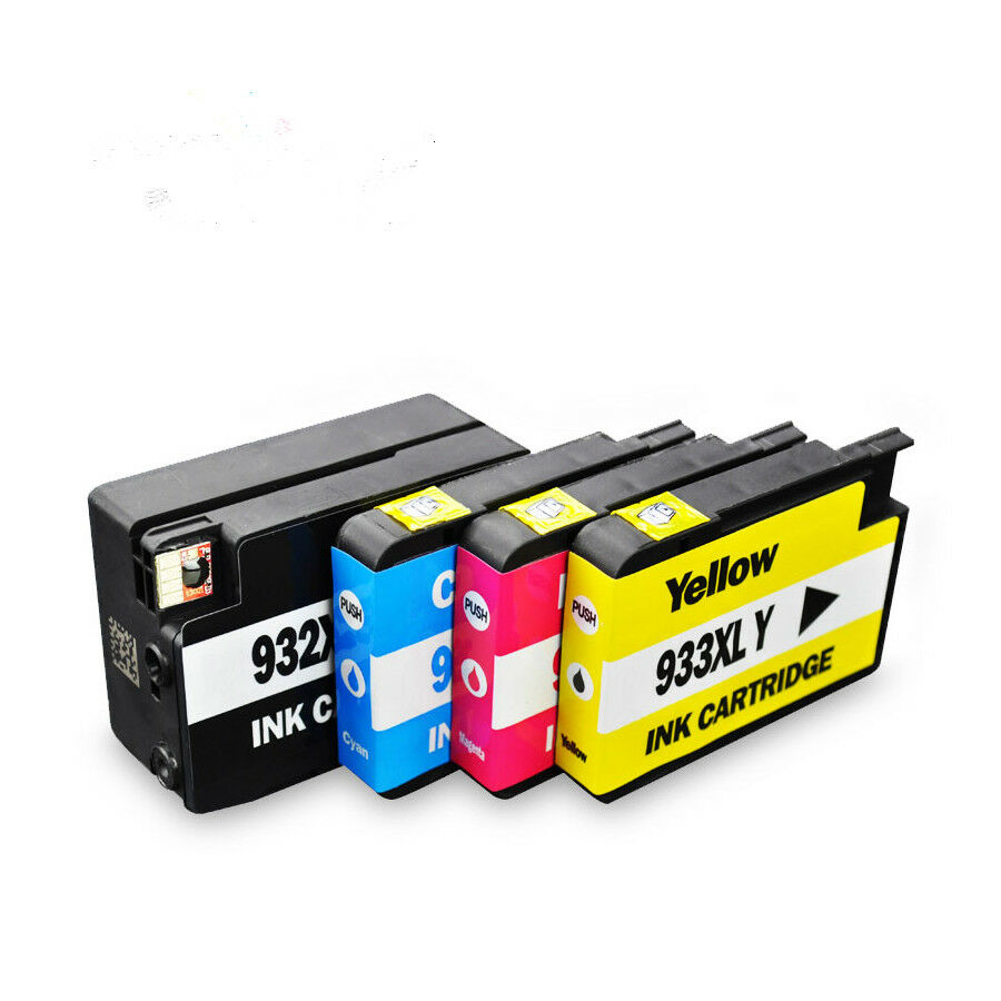 4 ink cartridge non oem for hp 932xl 933xl officejet 6100 6600 6700 7110 7610 cad. Black Bedroom Furniture Sets. Home Design Ideas