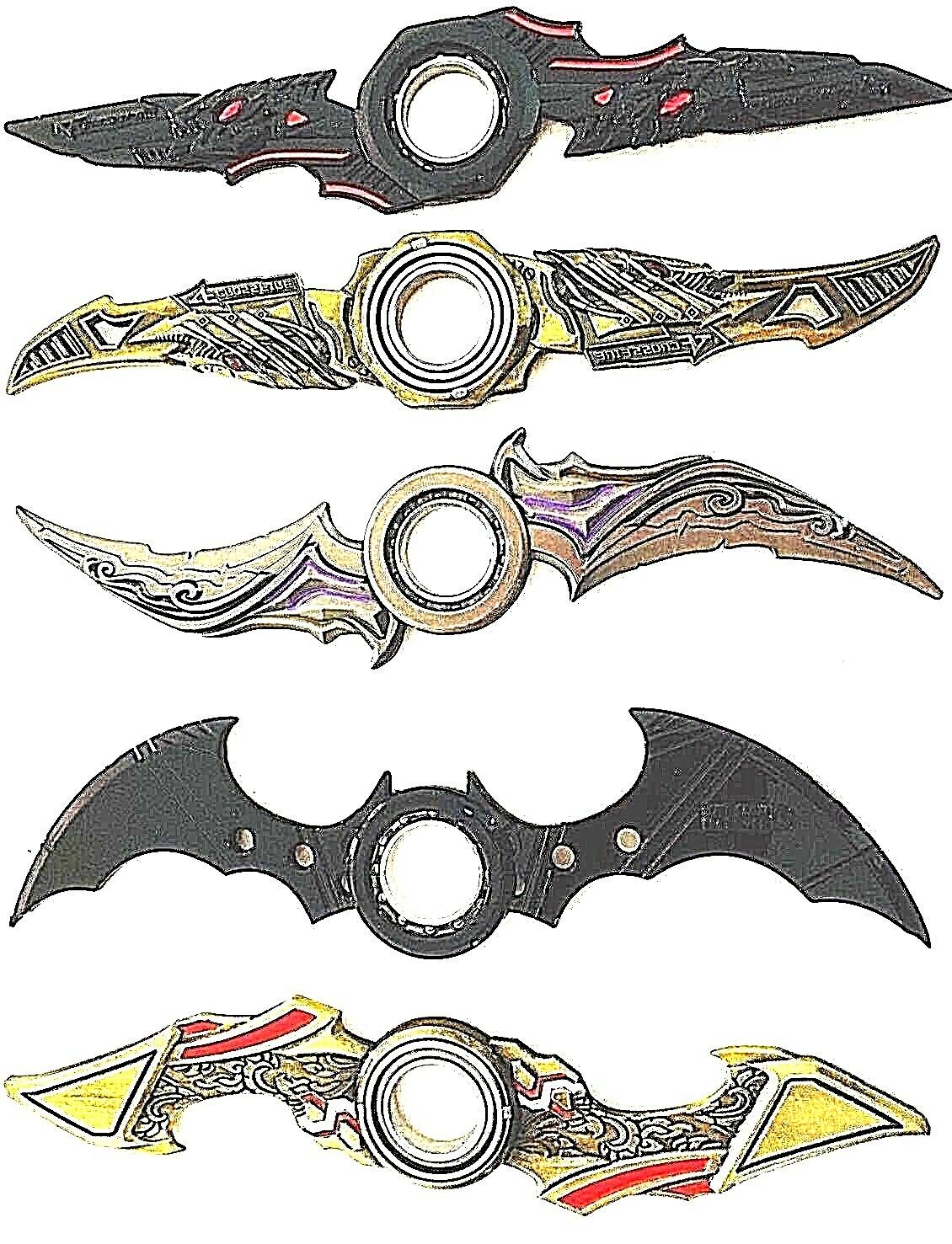 New Retail Batman Batarang Metal Fidget Hand Spinner Ring Alloy Adhd Toys Kids 1 Of 8free Shipping