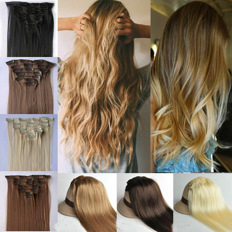 Blonde Hair Extensions Clip In Hair Extension Real Human Feel Eur