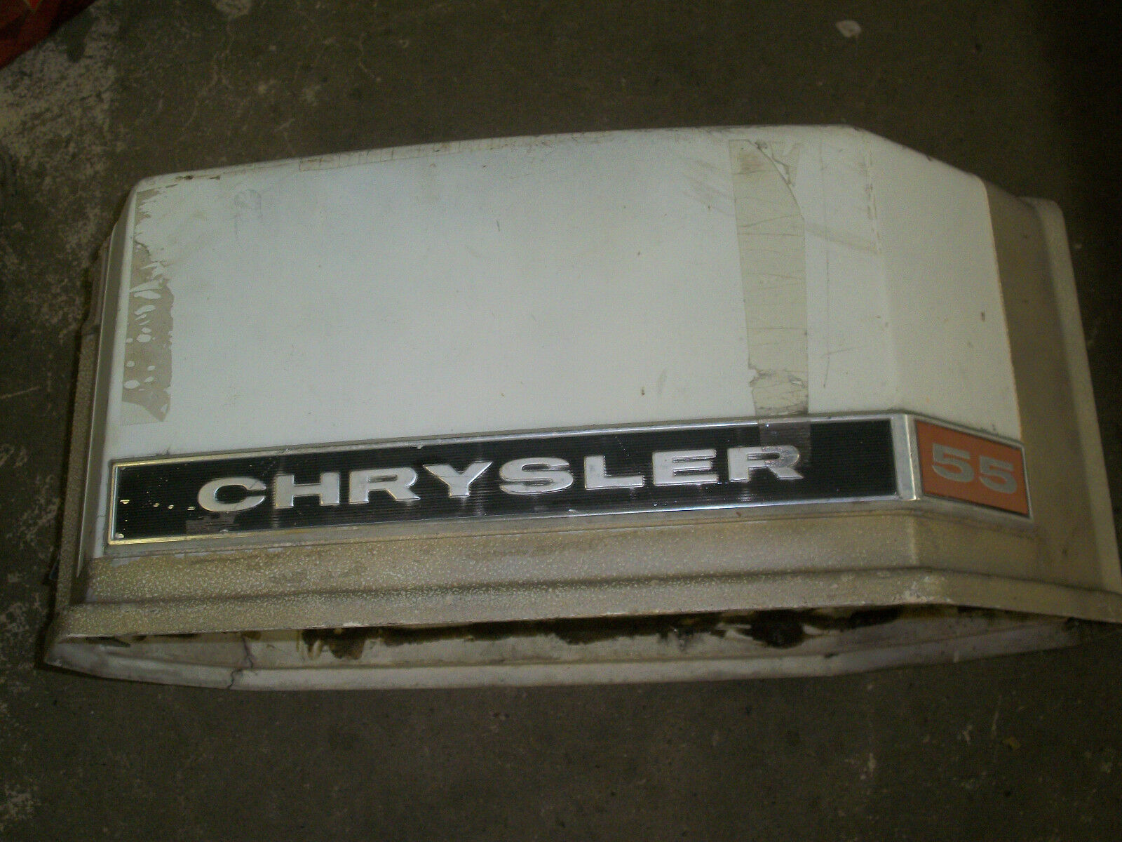 Chrysler Boat Motors 55 Hp Outboard Diagram Used Engine Motor Cover Shroud Cowling Of Only Available