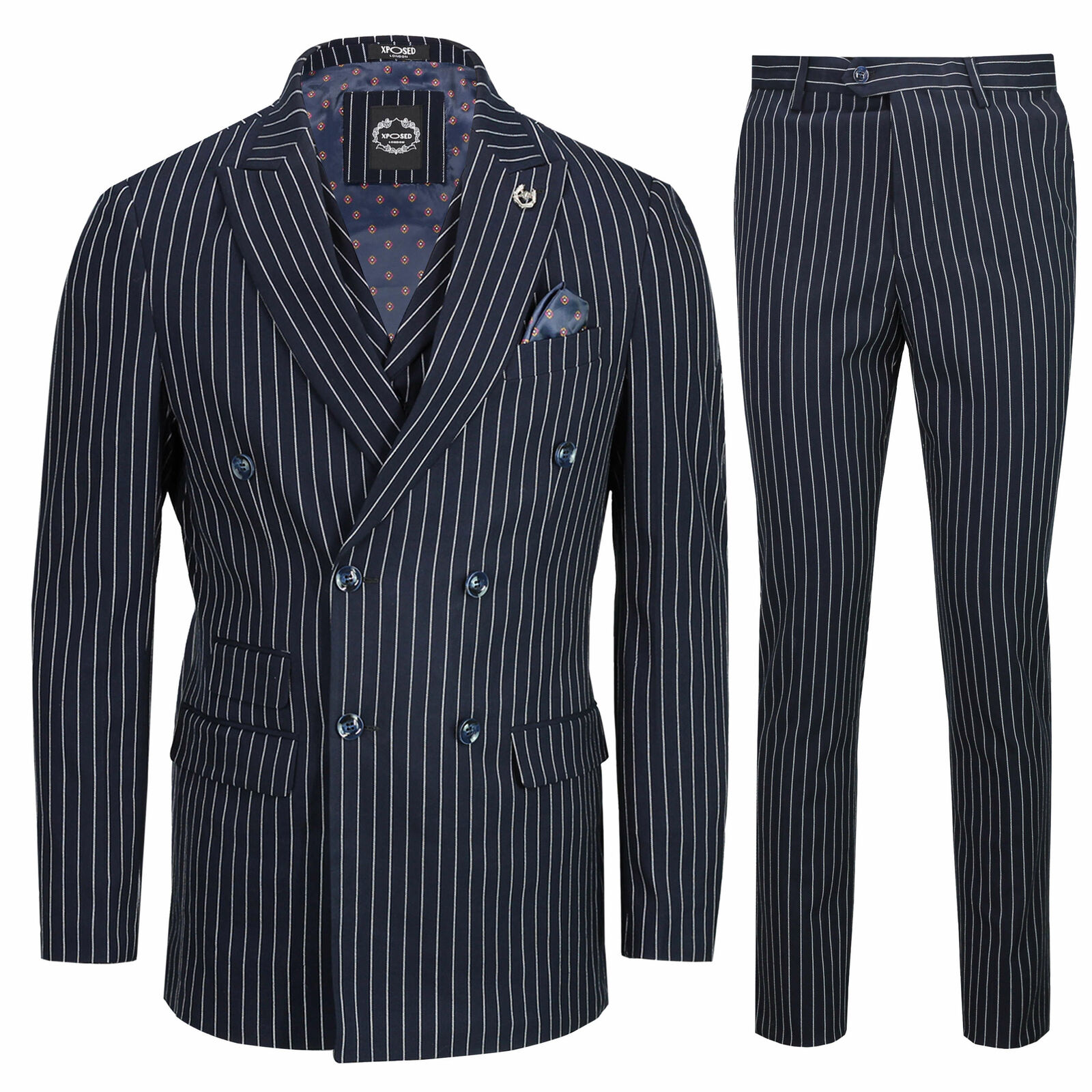 Button Double Breasted Suit Old Fashioned
