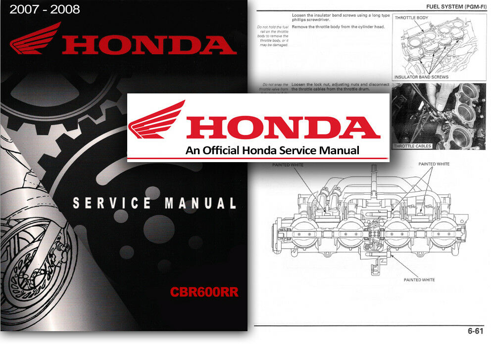 honda cbr600rr service workshop repair shop manual cbr 600 rr 2007
