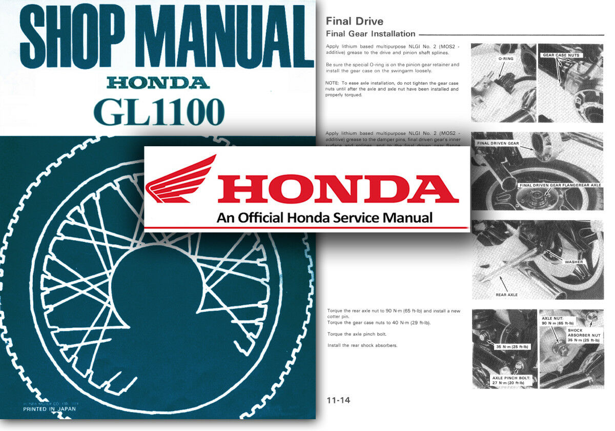 Honda GL1100 Goldwing Service Workshop Repair Shop Manual GL 1100 Gold Wing  1 of 2Only 5 available See More