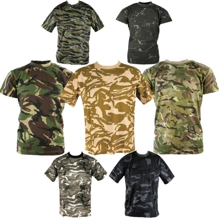Mens army camouflage t shirt s 3xl 100 cotton mtp btp dpm for Gildan camouflage t shirts