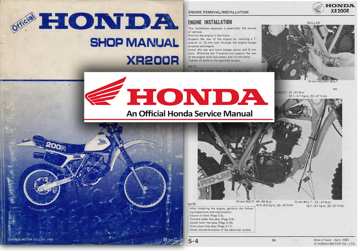 Honda XR200R Service Workshop Repair Shop Repair Manual XR200 XR 200 R  Factory 1 of 2Only 5 available ...