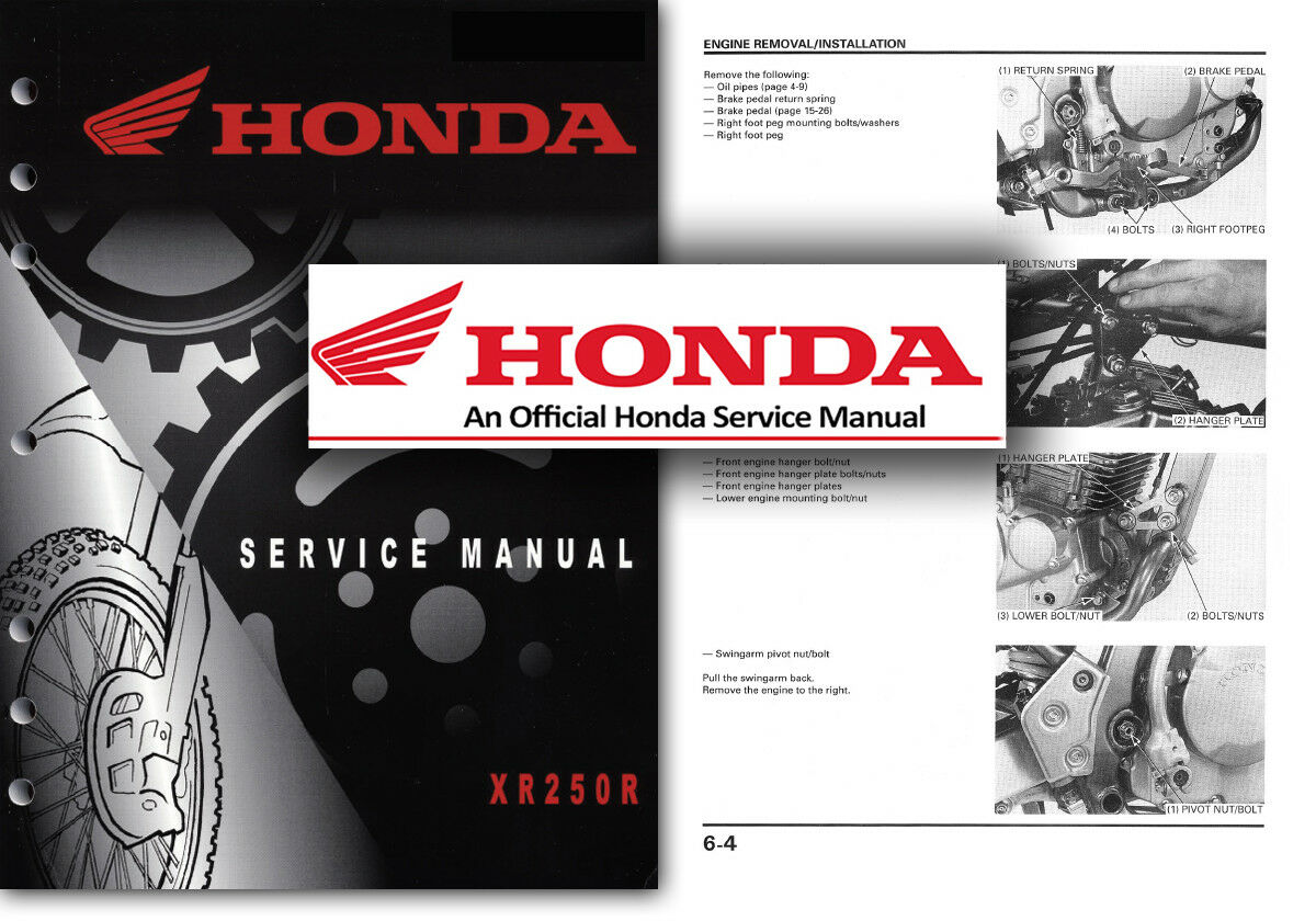 Honda XR250R Service Workshop Repair Manual XR 250 R XR250 Factory Shop 1  of 2FREE Shipping ...