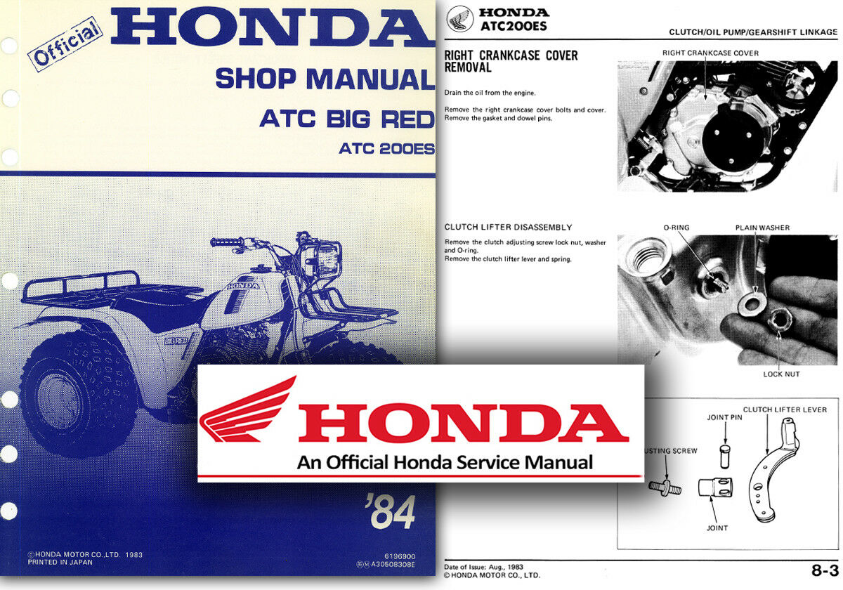 Honda ATC200 Big Red Service Workshop Repair Shop Manual ATC 200 ES Trike 1  of 2FREE Shipping ...
