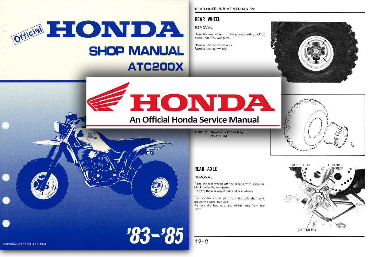 Honda ATC200X Service Workshop Repair Shop Manual ATC 200 X Trike ATC200 1983  85 1 of 2FREE Shipping ...