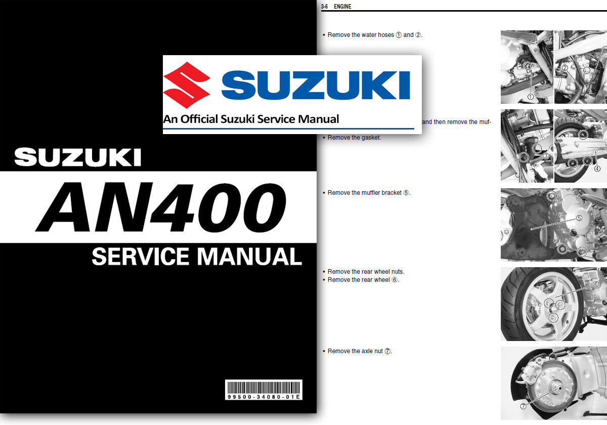 Suzuki AN400 Burgman Skywave Workshop Service Shop Repair Manual 400 2003 -  2006 1 of 2FREE Shipping ...