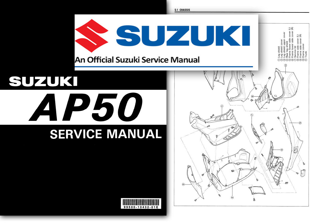 Suzuki AY50 KATANA Workshop Service Shop Factory Manual Scooter AY 50 1 of 2FREE  Shipping ...