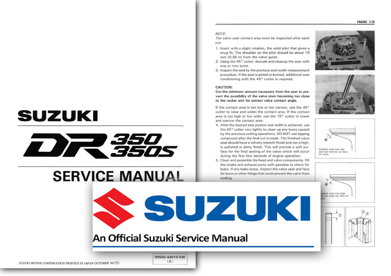 Suzuki DR350 Workshop Service Shop Manual DR S 350 DR350S 1990 to 1999  Factory 1 of 2FREE Shipping ...