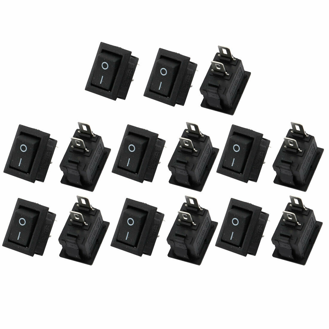 15pcs Kcd11 Ac 250v 3a Snap In Mounting 2 Position Spst Rocker Leviton White Decora Triple Wall Light Switch Triplex 15a 1755 1 Of 1only 4 Available