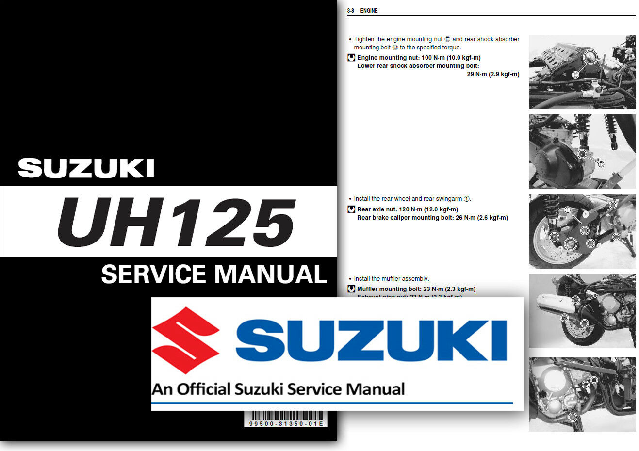 Suzuki UH125 BURGMAN Workshop Service Shop Repair Manual 125 Scooter 2007  onward 1 of 2FREE Shipping ...