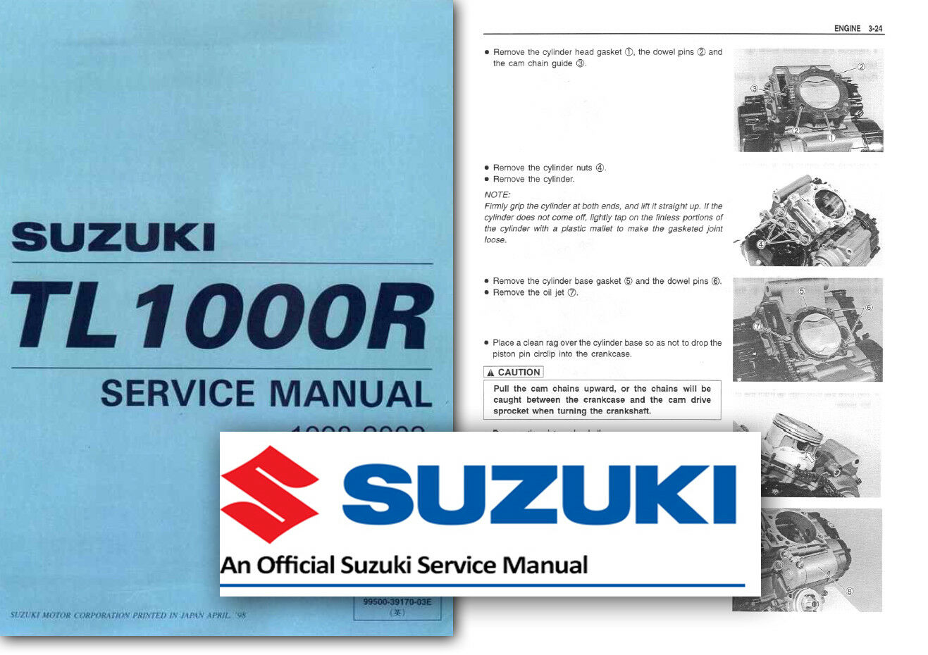 Suzuki TL1000R Workshop Service Shop Repair Manual TLR TL 1000 1998 to 2002  1 of 2Only 5 available ...