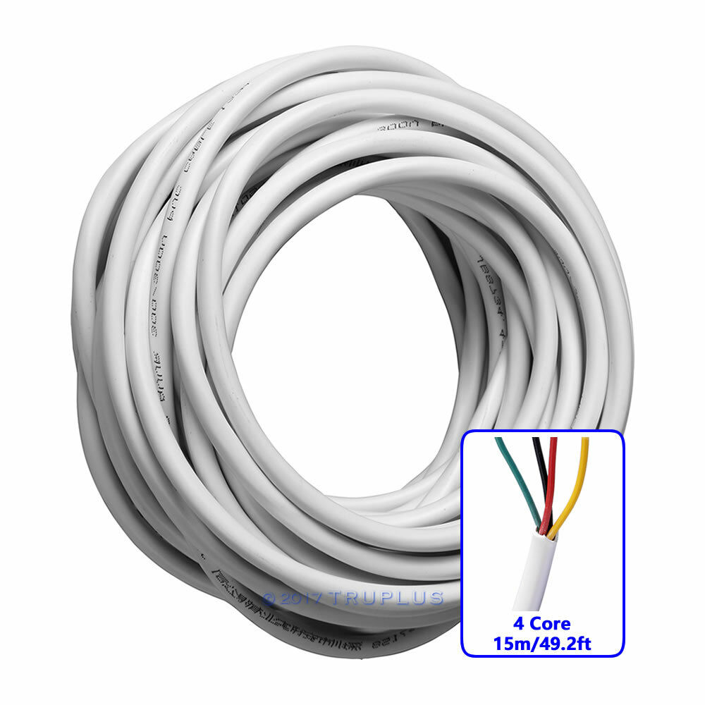 15M/49.2FT 4 Core 0.3mm² Flexible Copper Cable for Video Door Entry ...