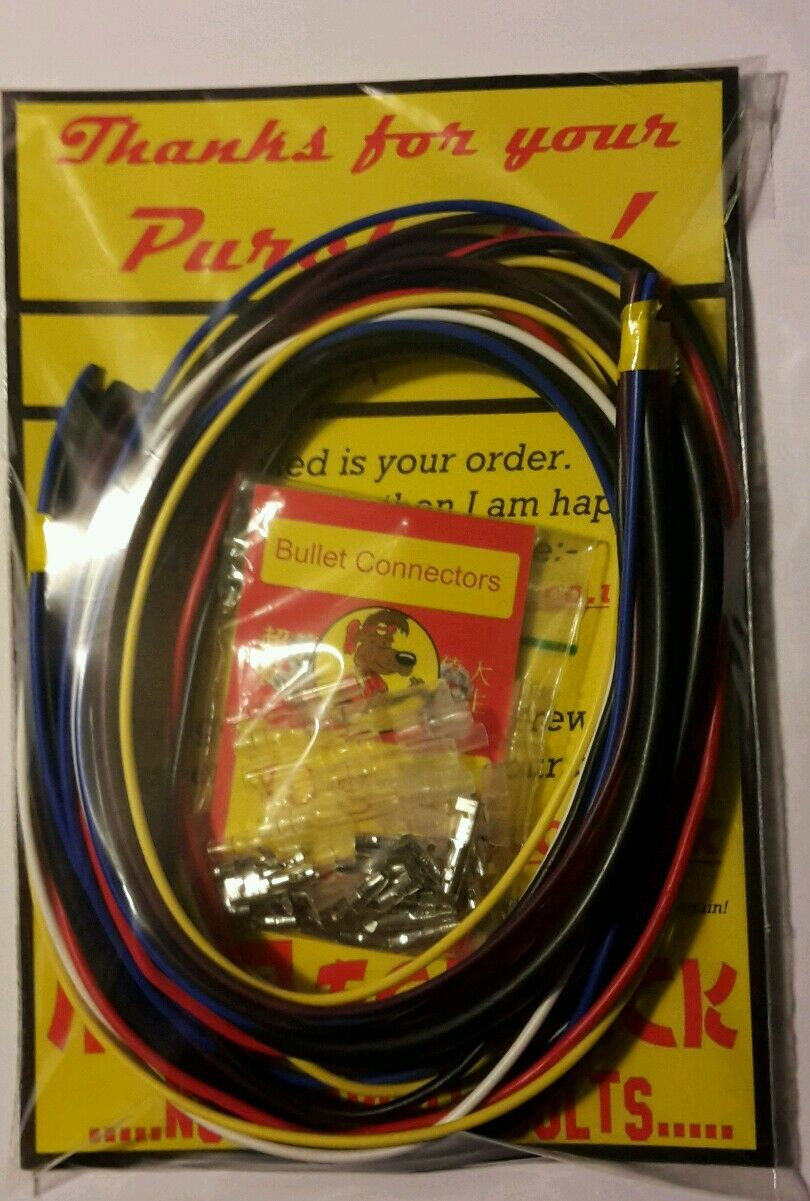 Motorcycle Wire X6 Colours X 1m Old Skool Connectors Yamaha Wiring 1 Of 1free Shipping