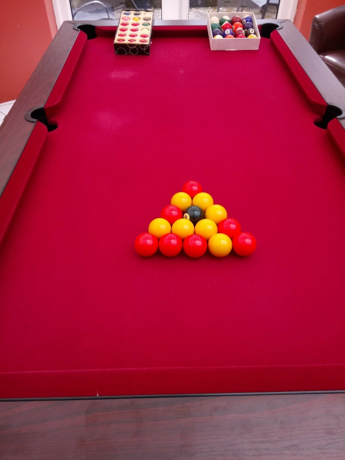 Supreme pool table 6 x 3 slate bed picclick uk for Pool table 6 x 3