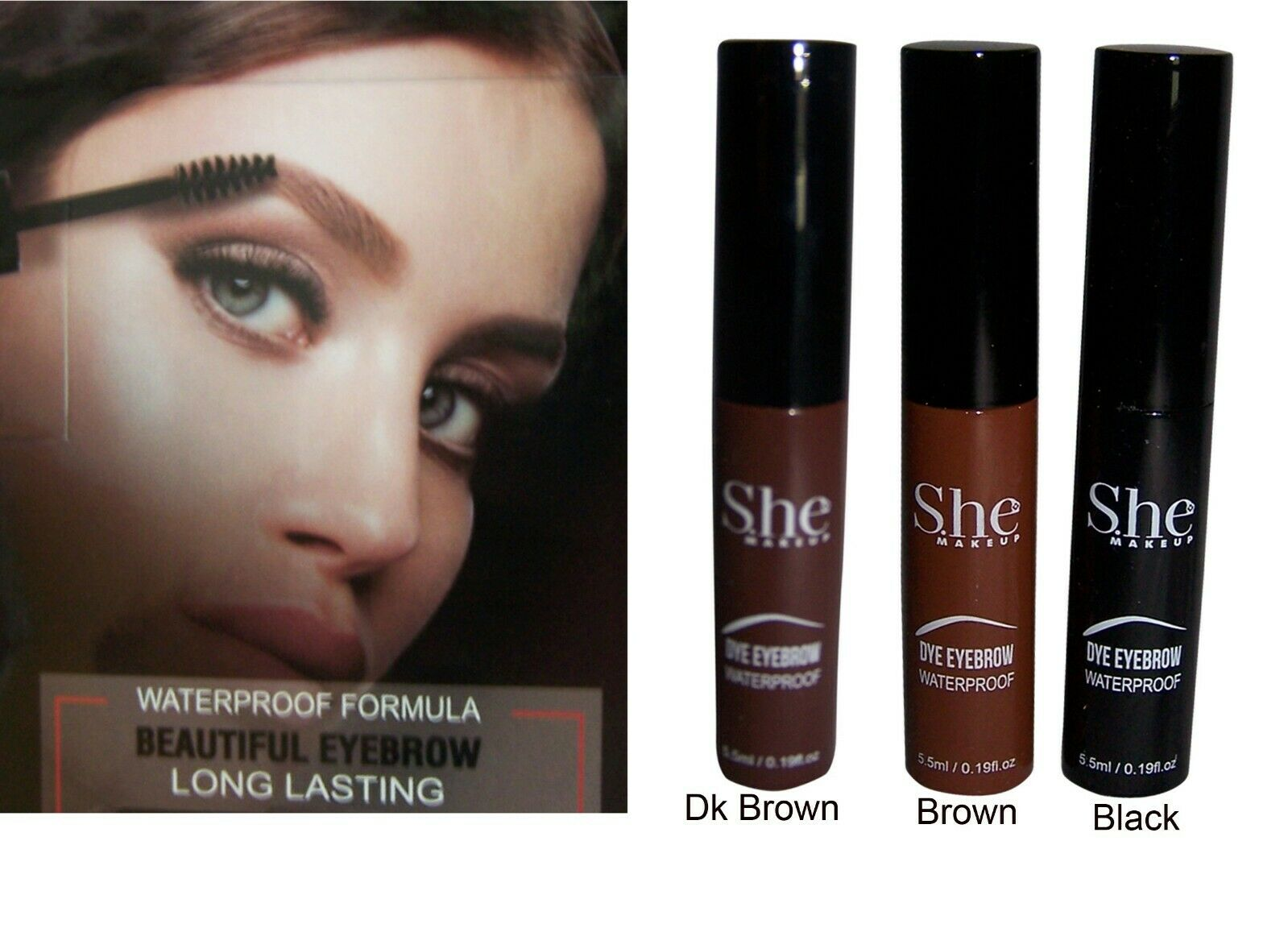 Cosmetics Eyebrow Dye Tint Dark Brown By She Gifts Cosde01