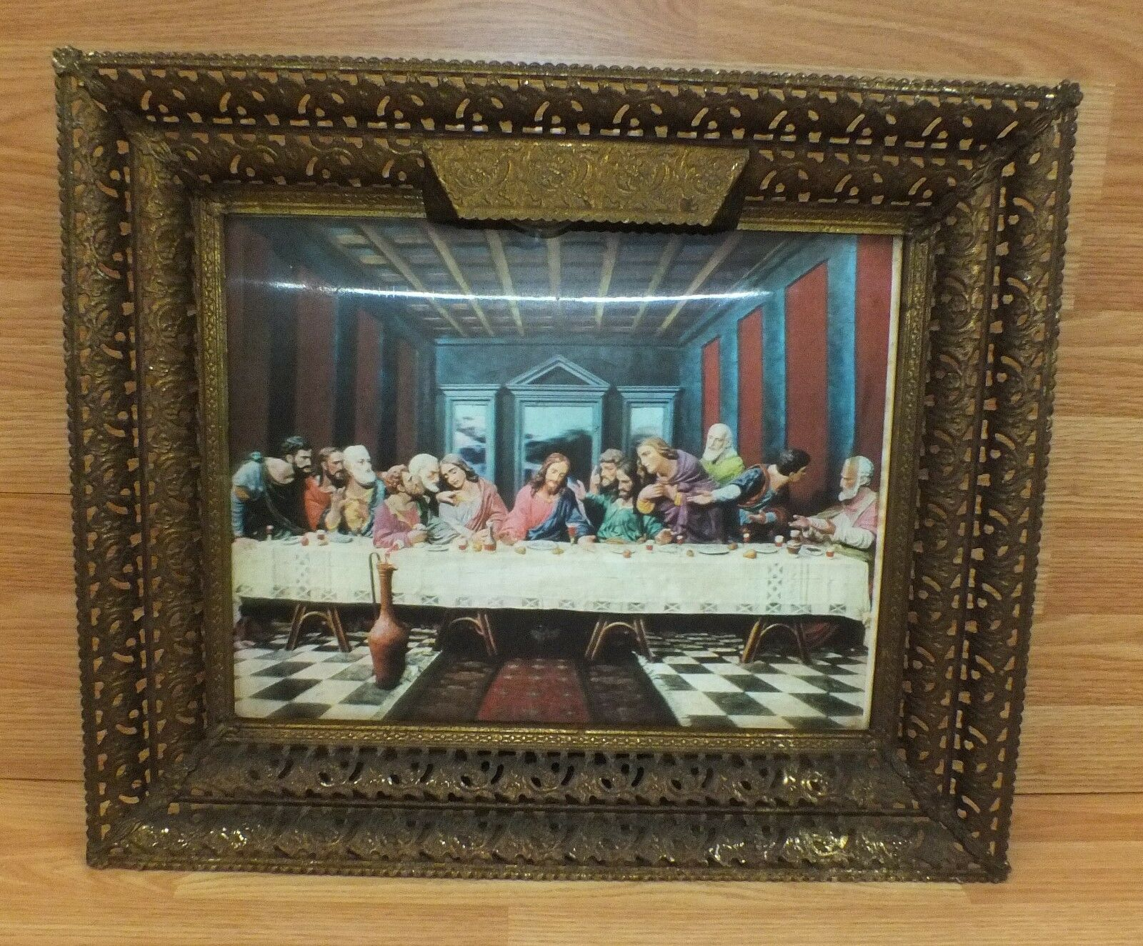 VINTAGE HOLOGRAPHIC LENTICULAR The Lords Last Supper Photo in ...