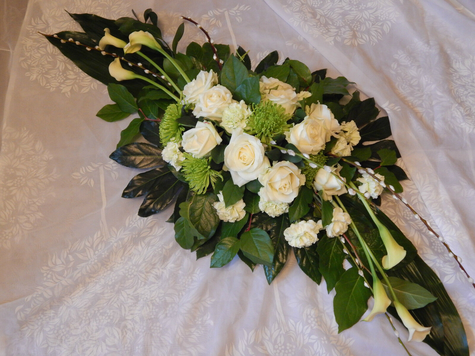 Double ended casket spray fresh funeral flowers birmingham 1 of 3free shipping izmirmasajfo
