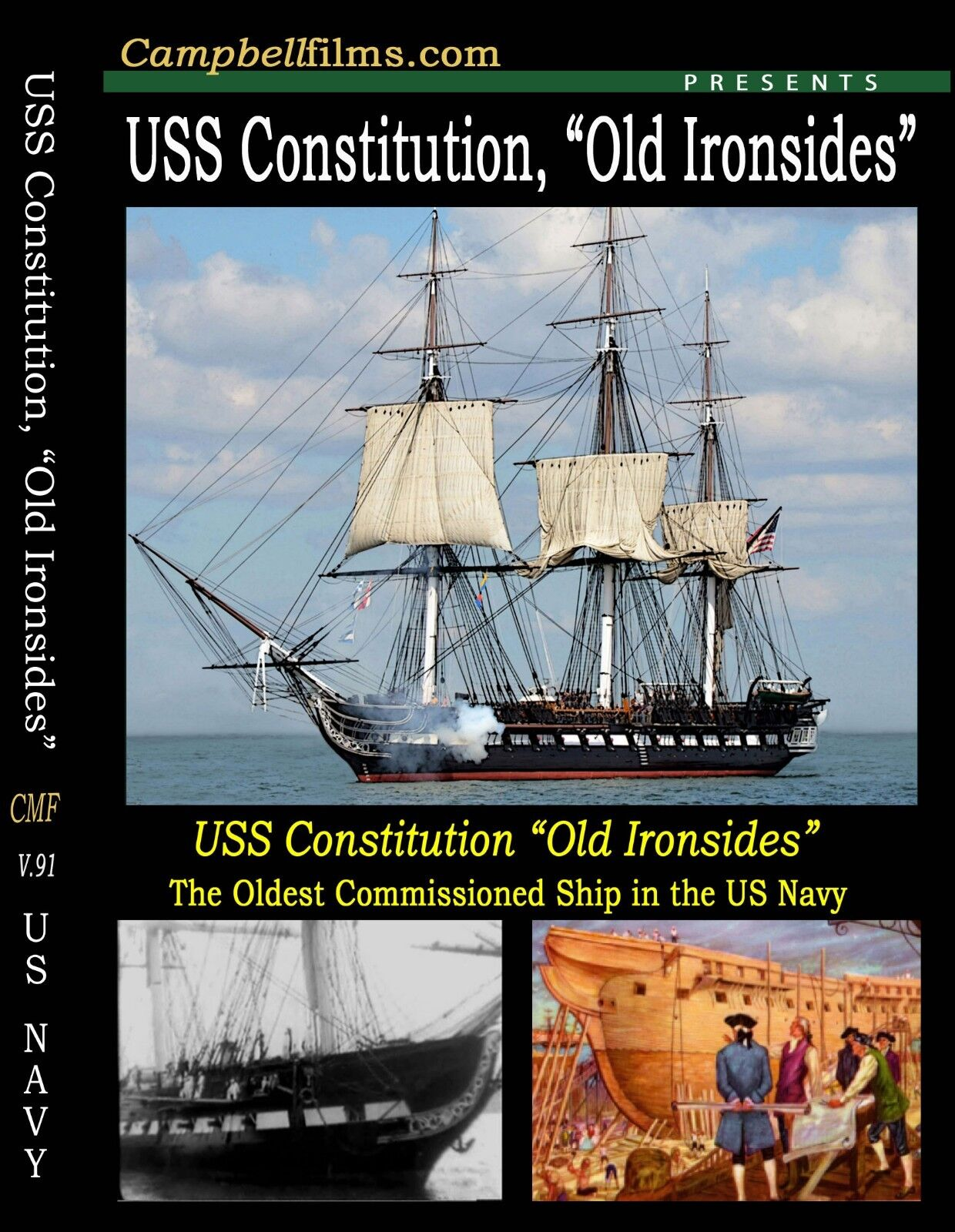 old ironsides uss constitution films war of 1812 tall ships free