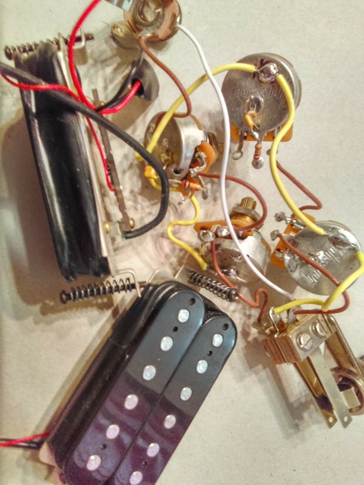 Gibson Gothic Sg Guitar Active Pickups Pots Switch And Wiring In Addition Vintage Les Paul Harness